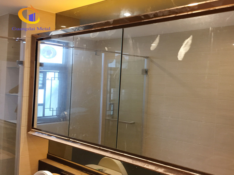 stainless steel mirror frame