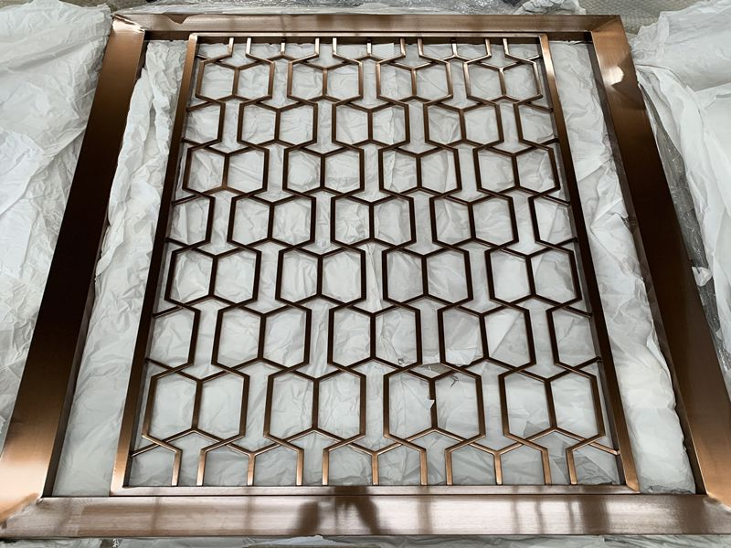 High Quality Metal Stainless Steel Wall Decorative Screen Room Divider