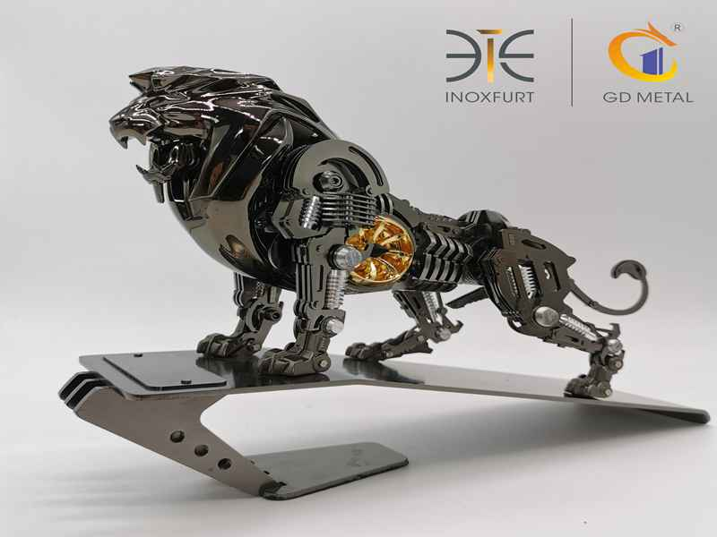 Stainless Steel Lion Shape Custom Decorative Crafts Ornament