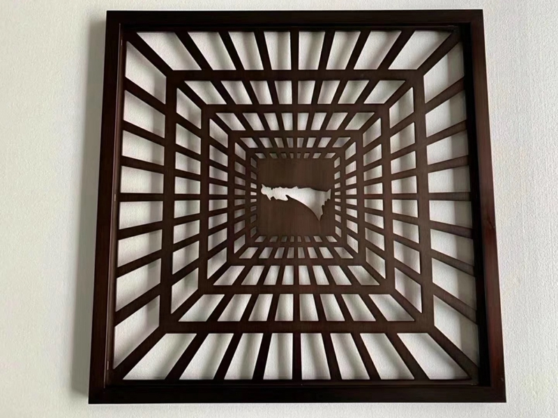 Customized Laser Cut Stainless Steel Ceiling Decorative Screen Metal Salon Divider Restaurant Room Wall Partition