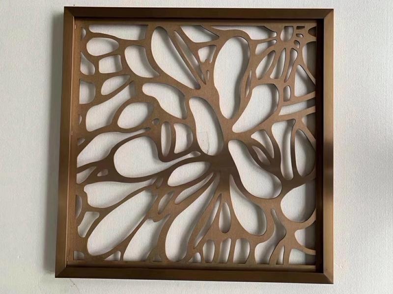 Stainless Steel Living Room Partition Screen Laser Cut Interior Decorative Divider